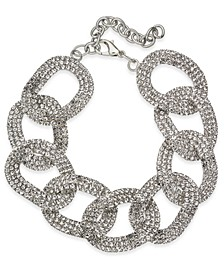 Silver-Tone Crystal Link Bracelet, Created For Macy's