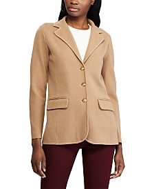 Lauren Ralph Lauren Petite Sweater-Knit Cotton Blazer