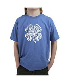 Boy's Word Art T-Shirt - Feeling Lucky