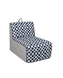 Kangaroo Trading Co. Tween Foam Lounger, Loopy Navy with Pebbles
