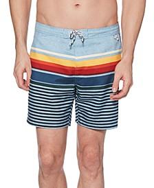 """Men's Stripe 6"""" Swim Trunks"""