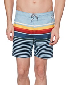 "Original Penguin Men's Stripe 6"" Swim Trunks"