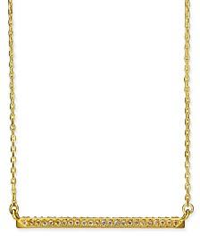 "Kate Spade New York Pavé Bar Pendant Necklace, 16"" + 3"" extender"