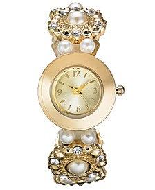 Women's Gold-Tone Elastic Bracelet Watch 27mm, Created For Macy's