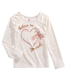 Little Girls Believe In Yourself T-Shirt, Created for Macy's