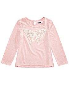 Toddler Girls Lace Butterfly T-Shirt, Created for Macy's