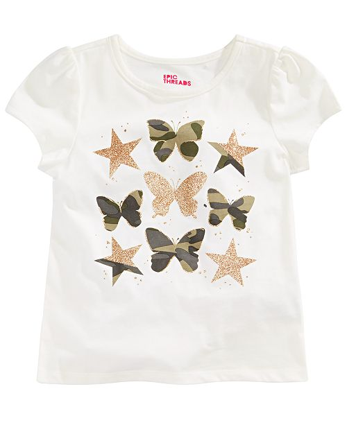 Epic Threads Toddler Girls Butterfly-Print T-Shirt, Created for Macy's