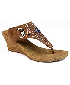 Adeline Embellished Wedge Sandals