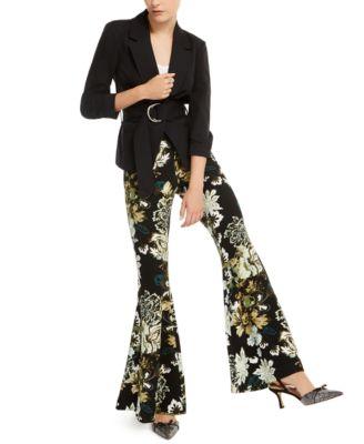 INC Printed Flare-Leg Pants, Created for Macy's