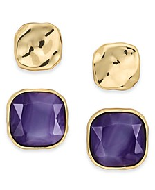 Square Stone Stud Earrings, 2 Piece Set, Created For Macy's
