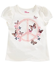 Toddler Girls Glitter Tulle Butterfly T-Shirt, Created for Macy's