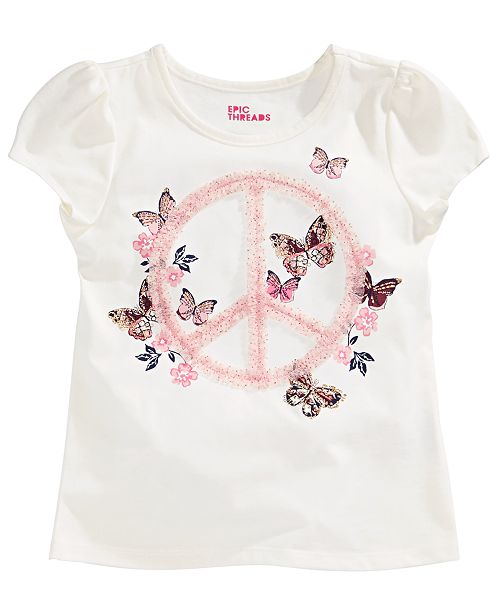 Epic Threads Toddler Girls Glitter Tulle Butterfly T-Shirt, Created for Macy's