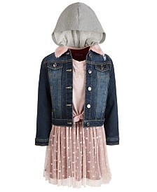 Epic Threads Toddler Girls Denim Jacket & Butterfly Dress, Created for Macy's