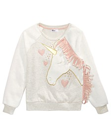 Big Girls Graphic Minky Sweatshirt