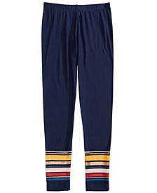 Big Girls Border Stripe Leggings, Created For Macy's