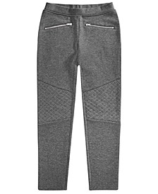 Big Girls Ponté-Knit Moto Pants, Created for Macy's