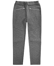 Epic Threads Big Girls Ponté-Knit Moto Pants, Created for Macy's