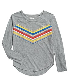 Big Girls Metallic Multicolored Chevron T-Shirt, Created For Macy's
