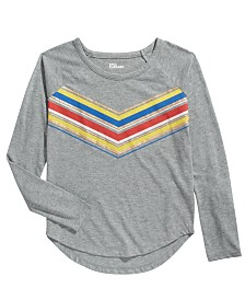 Epic Threads Big Girls Metallic Multicolored Chevron T-Shirt, Created For Macy's