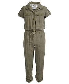 Big Girls Swiss-Dot Jumpsuit, Created For Macy's