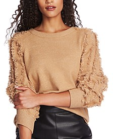 Fringe-Sleeve Sweater