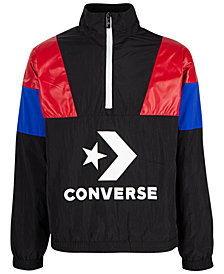 Converse Big Boys Colorblocked Logo-Print 1/2-Zip Track Jacket