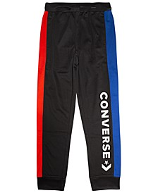 Big Boys Colorblocked Logo-Print Track Pants