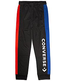 Converse Big Boys Colorblocked Logo-Print Track Pants
