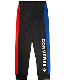 Converse Big Boys Colorblocked Logo-Print Track Pants