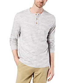 Men's Textured Henley Shirt