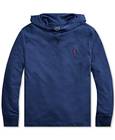 Polo Ralph Lauren Big Boys Hooded Jersey Cotton T-Shirt