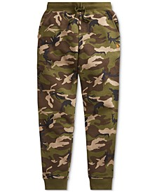 Big Boys Camo-Print Fleece Joggers