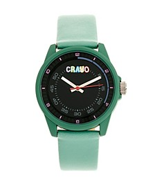 Unisex Jolt Seafoam Leatherette Strap Watch 34mm