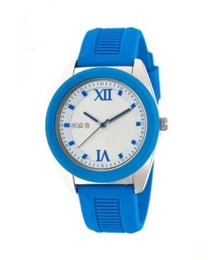 Unisex Praise Blue Silicone Strap Watch 43mm