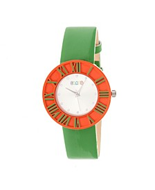 Unisex Prestige Green Polyurethane Strap Watch 37mm