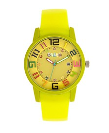 Unisex Festival Lime Silicone Strap Watch 41mm