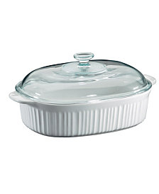 Corningware® French White 4-Qt. Oval Casserole with Glass Lid