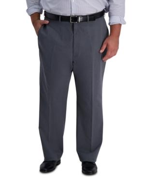 Men's Big & Tall Iron Free Premium Khaki Classic-Fit Flat Front Pant