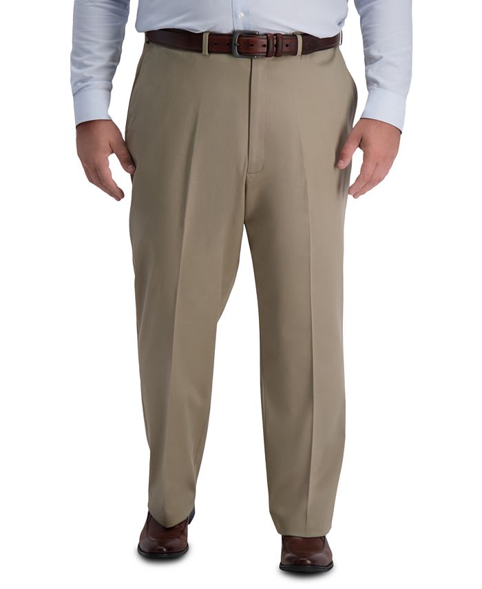 Haggar - Men's Big & Tall Premium Classic-Fit Performance Stretch Non-Iron Flat-Front Dress Pants