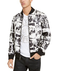 GUESS Men's Photo Montage Jacket