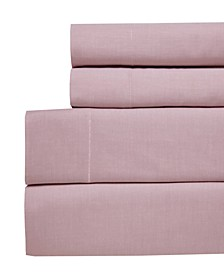 Yarn Dyed Chambray King 4-pc Sheet Set, 200 Thread Count 100% Cotton