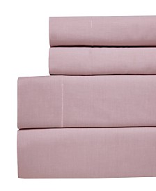 Westport Yarn Dyed Chambray Queen 4-pc Sheet Set, 200 Thread Count 100% Cotton