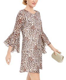 I.N.C. Animal-Print Shift Dress, Created for Macy's