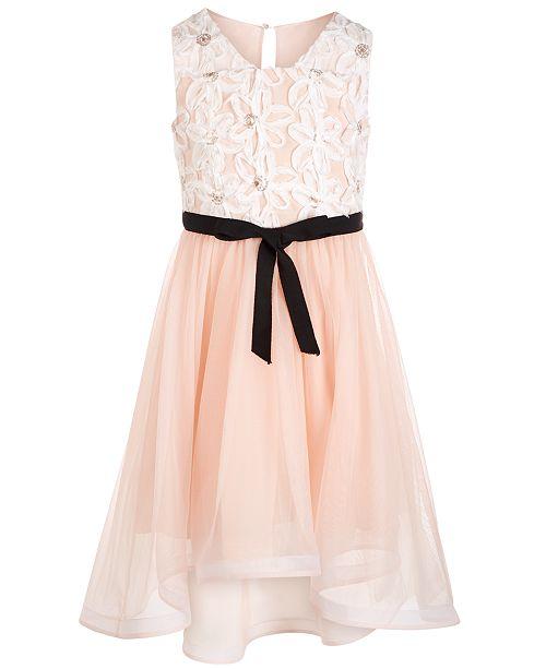 Big Girls Plus Size High-Low Soutache Dress