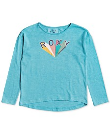 Roxy Little & Big Girls Logo-Print T-Shirt
