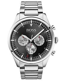 Men's Chronograph Pioneer Stainless Steel Bracelet Watch 44mm