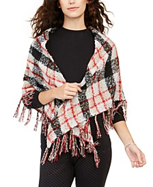 Classic Plaid Bouclé Triangle Scarf, Created for Macy's