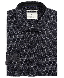 Con.Struct Men's Slim-Fit Stretch Circle Dress Shirt