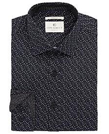 Con.Struct Men's Slim-Fit Stretch Circle Dress Shirt