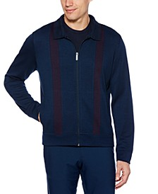 Men's Zip-Front Stripe Sweater